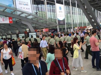 中国警察入場行進