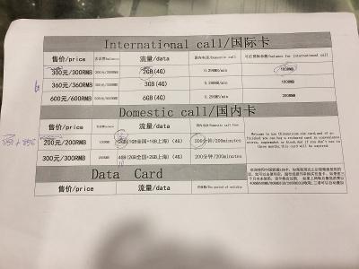 上海浦東 SIM 料金